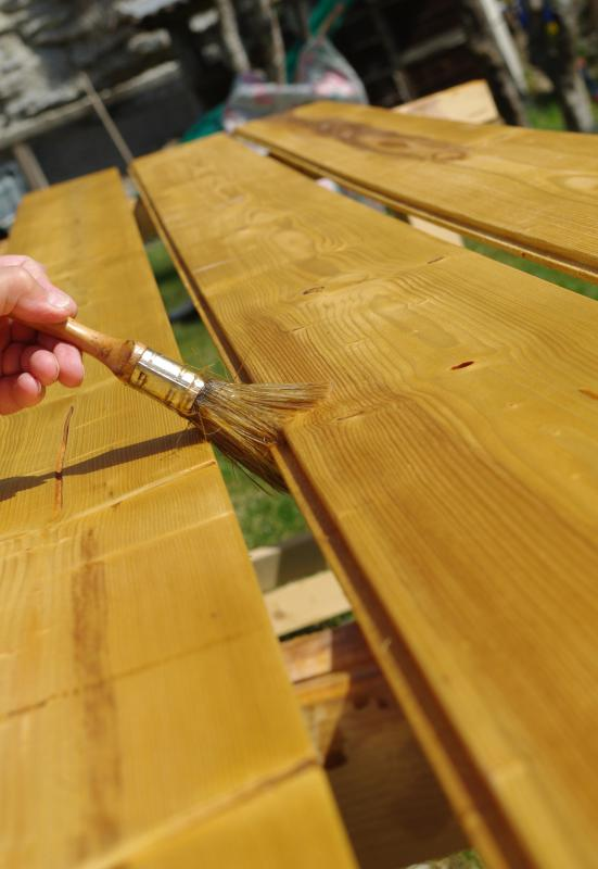 Faux wood may be stained to achieve desired color.