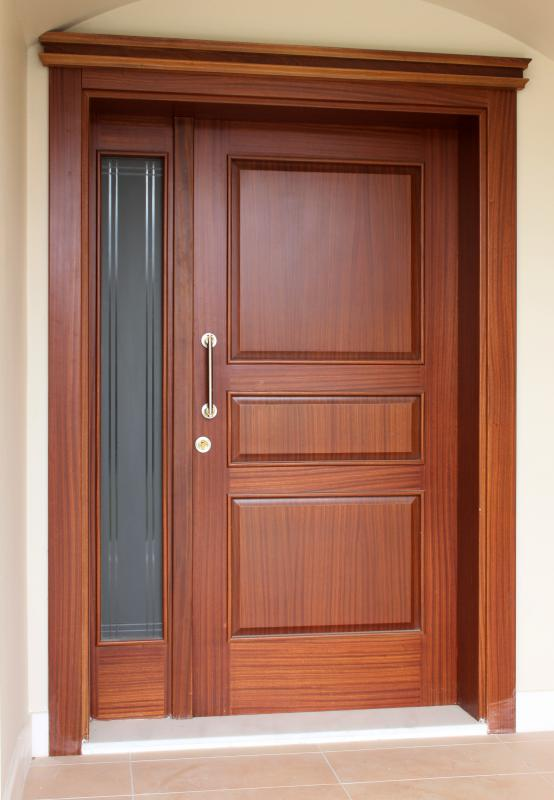 Before installing a door, one should check the opening to make sure that all corners are square and that the floor is level.