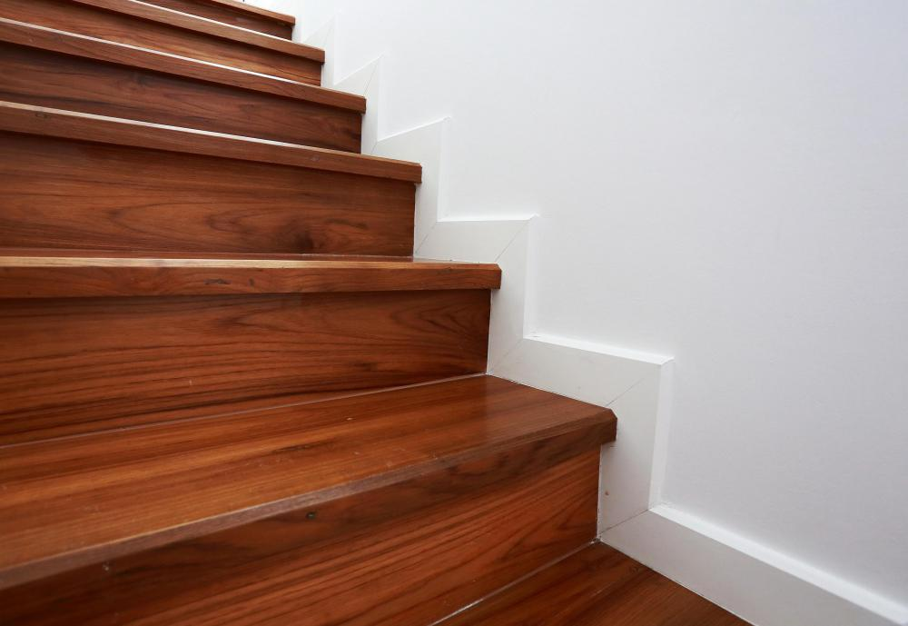 A wooden staircase is usually a good option for accessing an attic.