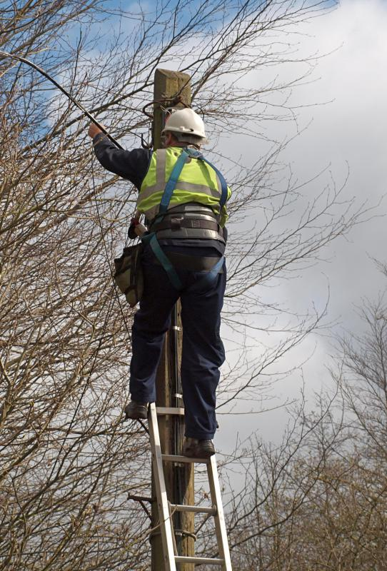 An electrical foreman may have previously worked for a utility company, fixing downed power cables.