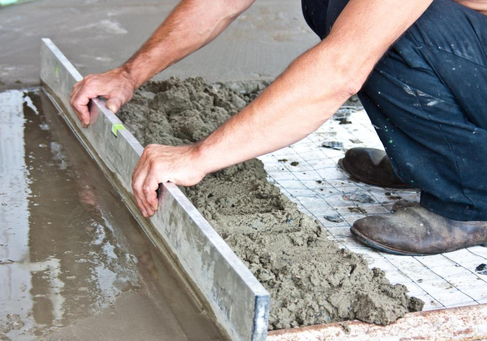 Concrete is frequently poured over a rebar grid in order to increase its strength and durability.