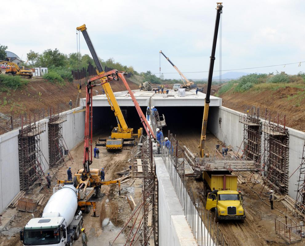 Civil engineers often work on transportation-related projects, such as tunnels and bridges.