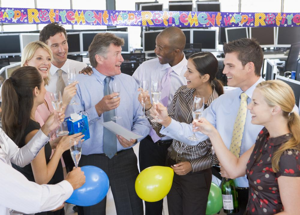 A party organizer might plan an office birthday party.
