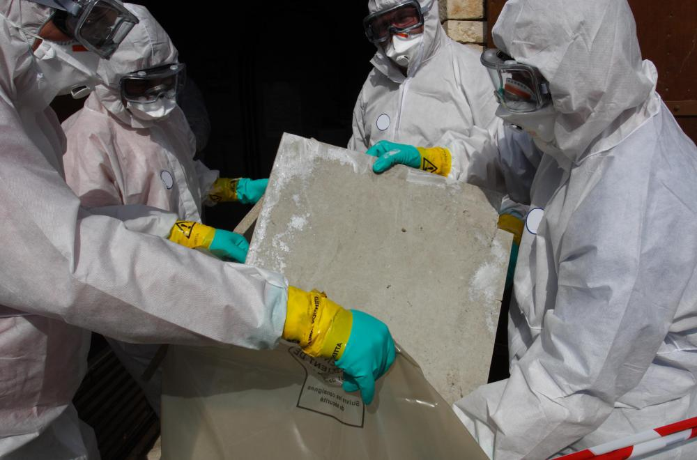 Asbestosis can occur if people exposed to asbestos do not wear adequate protection.