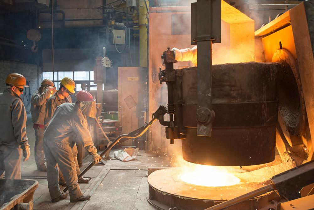 Iron ore is smelted to produce usable iron.
