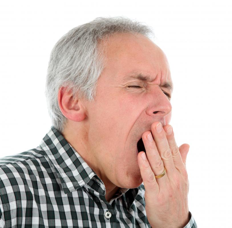 Some inhalation therapy is meant to stimulate yawning.