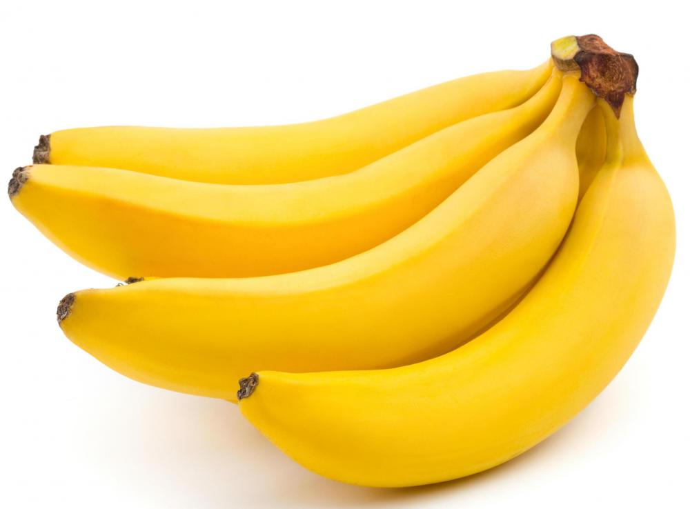 Bananas should be firm and yellow.