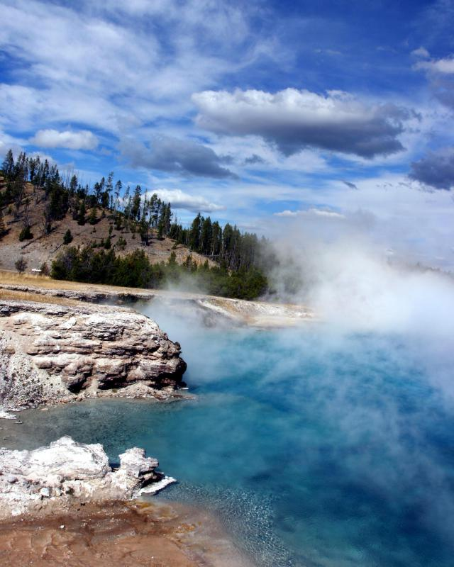 Some geothermal power plants tap into natural hot springs in order to generate power.