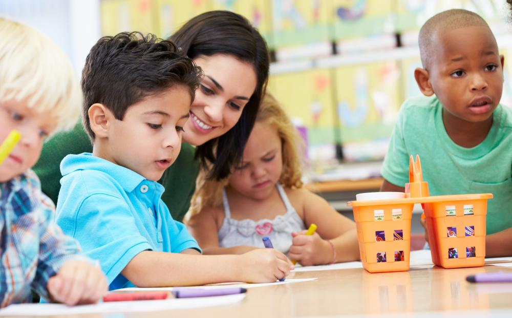Children in preschools receive education that prepares them for kindergarten.