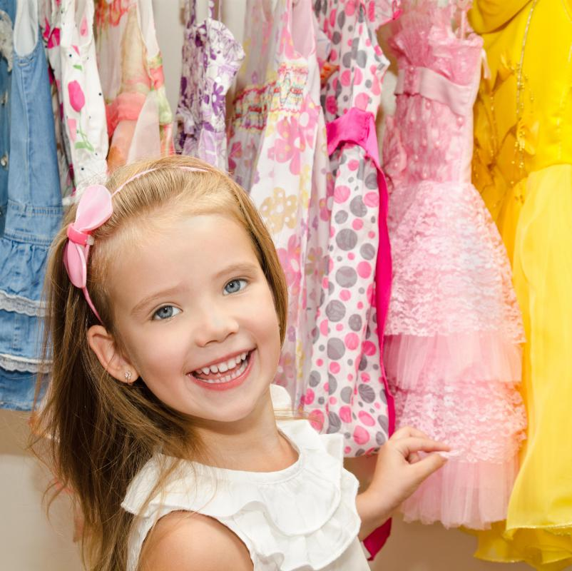 A child's clothing can be organized by color, seasonality and type.
