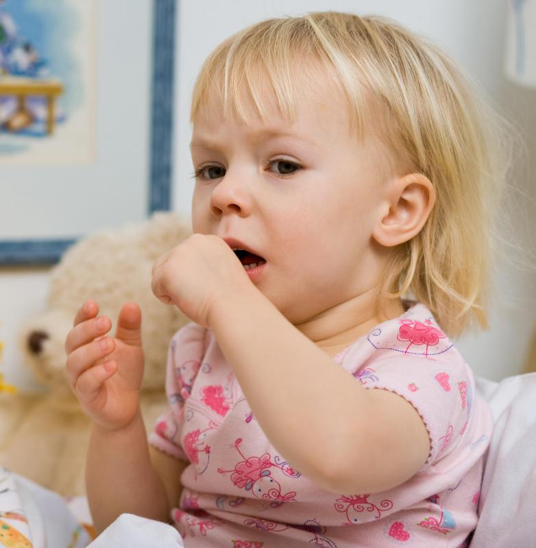 Children may develop a harmless cough while teething.