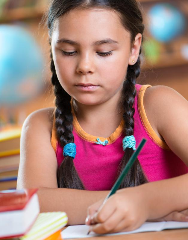 Children learn the basics of writing in elementary school.