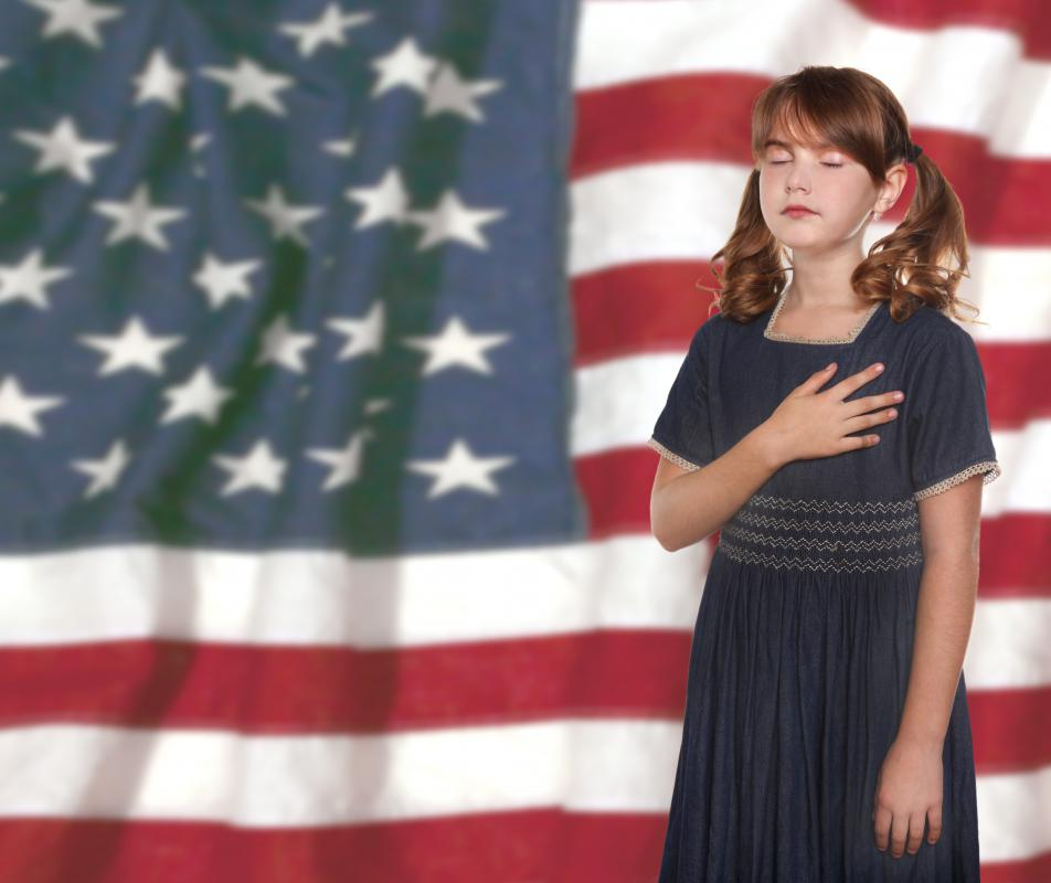 "Some people have disputed the allowance of the phrase ""under God"" in the Pledge of Allegiance."