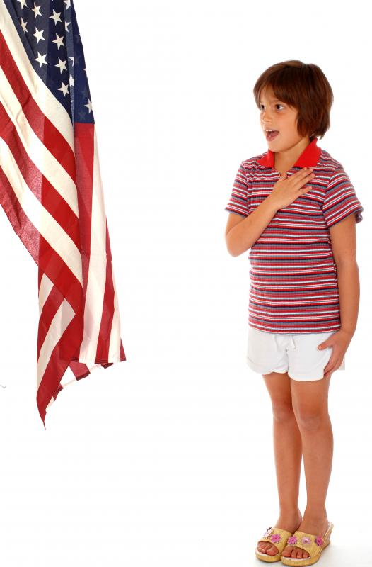 Children are often taught the Pledge of Allegiance in schools in the U.S.