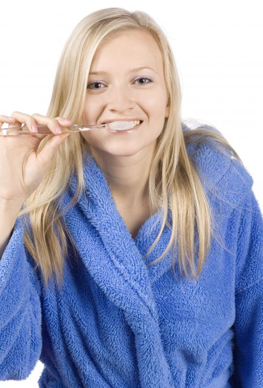 Hard toothbrushes are generally not recommended by dentists for brushing the teeth.