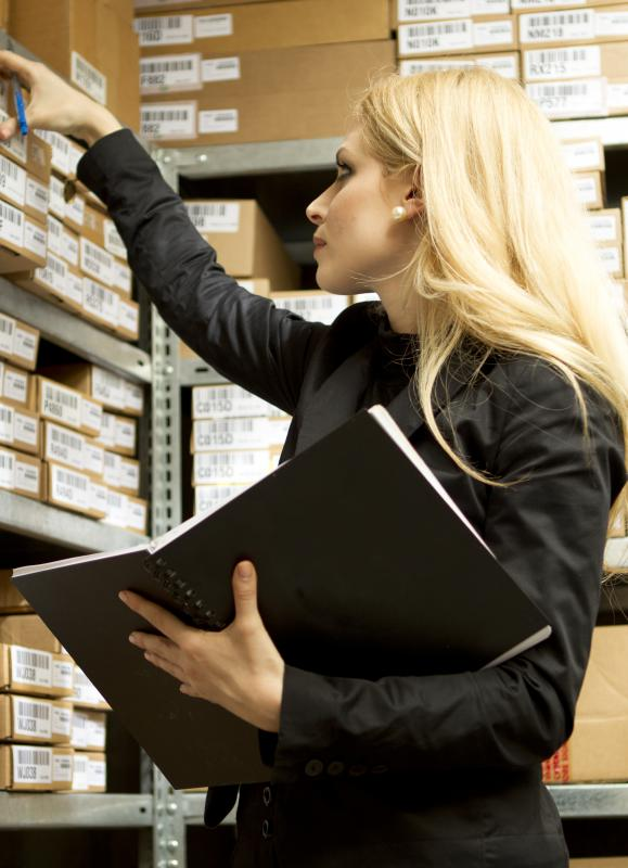 An inventory audit involves personally inspecting assets, supplies, or other items a business owns to determine exactly what it is in possession of.