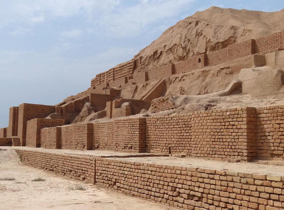 Ziggurats were built as resting places for the gods.