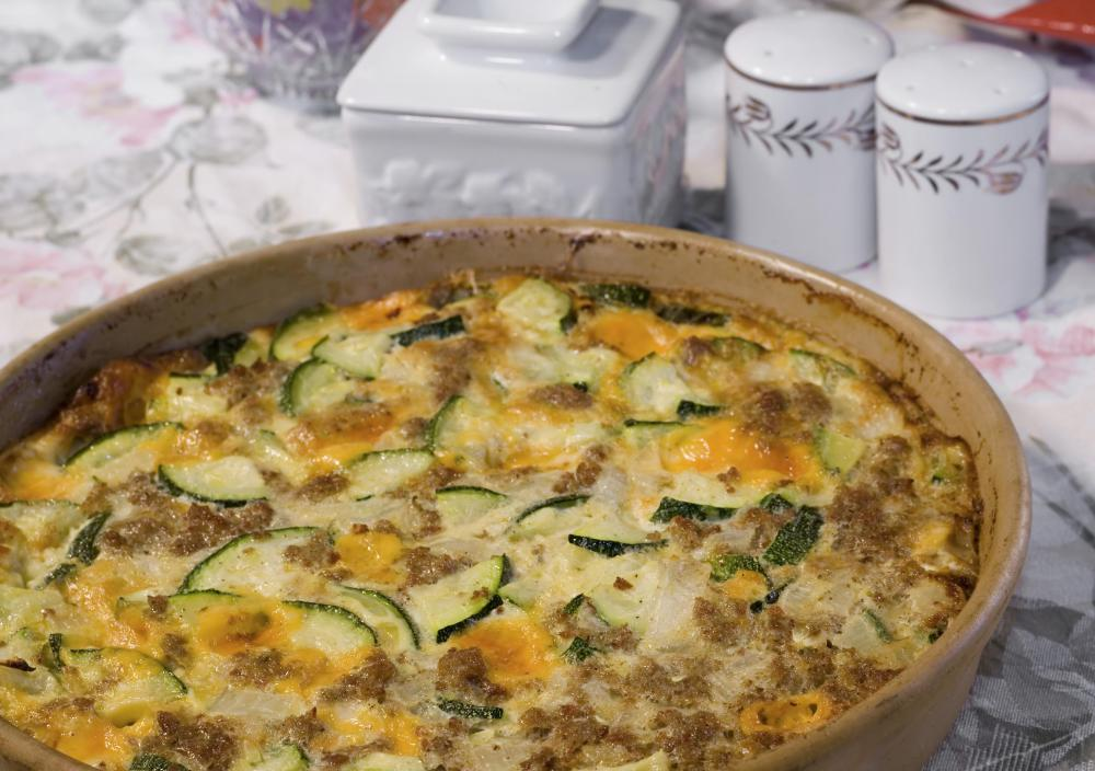 Cheesy zucchini casseroles can be healthy and enjoyable for holiday guests.