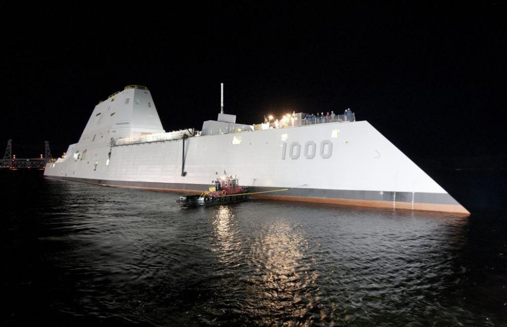 Most large warships, including the US navy's Zumwalt class destroyers, are built with a monohull.
